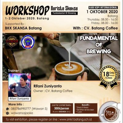 Workshop Barista Tingkat Dasar